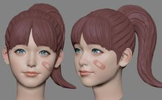 Artstation - zbrush practice, june ho cho ref_sculpt face drawing reference, zbrush.