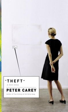 Theft, by Peter Carey. In this literary novel with aspects of a thriller, three strangers trying to find their way in the wake of loss become entwined in an identity theft scheme. Book Cover Design, Book Design, Chip Kidd, Paula Scher, Book Jacket, Women Names, Book Authors, Fiction Books, Famous Artists