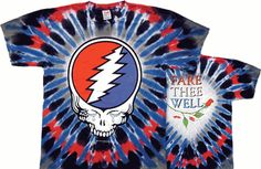 Grateful Dead - Steal Your Tears Tie Dye T-Shirt This Grateful Dead t-shirt is in memory of Jerry Garcia and has a Steal Your Face design with tears. Grateful Dead Merchandise, Grateful Dead Shirts, Rock Shirts, Tie Dye T Shirts, Tee Shirts, Shirt Men, Hippie Shop, Hippie Life, Blue Tie Dye