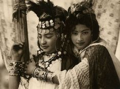 Emile Frechon Two young women of the tribe of Ouled Nail, Biskra Algérie 1924
