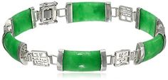 Sterling Silver Green Jade Asian Script Link Bracelet Amazon Curated Collection http://smile.amazon.com/dp/B00OW2NY9G/ref=cm_sw_r_pi_dp_3-JOub0Z6AR78