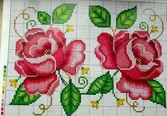 Cross Stitch Rose, Cross Stitch Animals, Cross Stitch Flowers, Cross Stitch Charts, Cross Stitch Designs, Cross Stitch Patterns, Beaded Embroidery, Hand Embroidery, Crochet Borders