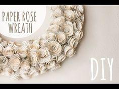 "DIY How to Make a Paper Flower Backdrop ""Rose"" / Como Hacer un Mural de Flores de Papel ""Rosa"" - YouTube"