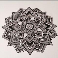 #mandala #zentangle #zendala #linework #blackwork #mandalatattoo #zenart #zen #penandink #mandalaart #inkdrawing #blacktattoo #stippling #symmetry #dotwork