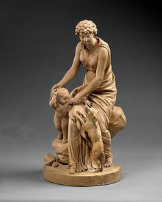 PAJOU Augustin (1730-1809) ~ Fidelity, the Mother of Constant Love, 1799. The Metropolitan Museum of Art, New York. Purchase, Gifts of J. Pierpont Morgan and Irwin Untermyer, by exchange, 1986 (1986.282)