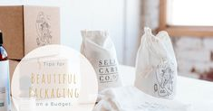 Make the first physical impression of your brand stand out and woo your customers, even on a shoestring budget with these 5 tips! Candle Branding, Candle Packaging, Jewelry Packaging, Retail Packaging, Gifts For Friends, Gifts For Him, Bridesmaid Kit, Plastic Free July, Google Plus