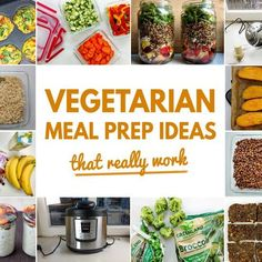 These meal prep ideas with focus on the vegetarian diet are ideal to save tons of time in the kitchen and make sure to stick to a healthy diet. Enjoy!