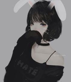 by : Aoi Ogata Cool Anime Girl, Girls Anime, Beautiful Anime Girl, Anime Art Girl, Manga Girl, Manga Anime, Korean Anime, Korean Art, Kawaii Girl
