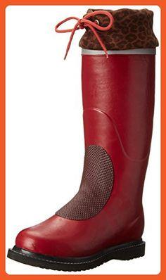ILSE JACOBSEN Women's Rub 8N Rain Boot, Wine, 39 EU/9 M US