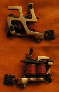 Custom Hand Built Swastika Tattoo Machines by Bealze Bub