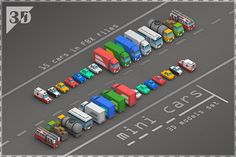 Mini Cars by stallfish's art store on @creativemarket