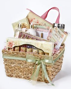 Pamper mom with a cute basket full of papercrafting supplies (and maybe some extras to keep her going - like a cute mug for her coffee!) :)