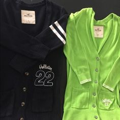 Hollister cardigan bundle Green in xs Hollister cardigan and dark navy Small Hollister cardigan bundle Hollister Jackets & Coats