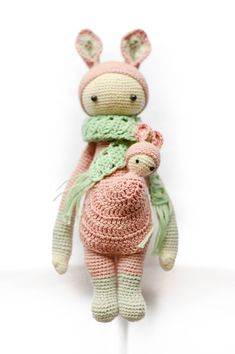 Kira the Kangaroo Miniature Amigurumi Doll by Happielephant
