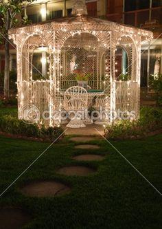 I love gazebos and I love lights, so romantic.