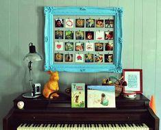 DIY photo frame from a picture frame Diy Photo, Cadre Photo Diy, Diy Wand, Instagram Display, Instagram Prints, Marco Diy, Molduras Vintage, Exposition Photo, Vintage Picture Frames