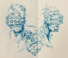 Many Sketches, Artem Solop on ArtStation at https://www.artstation.com/artwork/PyObB