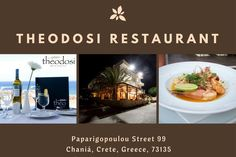 Great #Food with a Great View! only at Theodosi Restaurant. ​Book your table in advance at http://theodosirestaurant.com