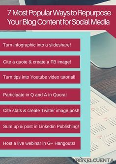7 Most Popular Ways to Repurpose Your Blog Content for Social Media