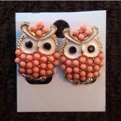 Owl Earrings Cute owl earrings. Gold toned metal. New in package. Jewelry Earrings