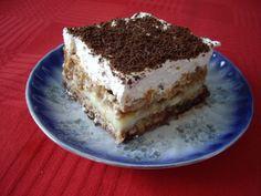 Almás-csokis sütemény sütés nélkül! Krémes és habos, ez maga a mennyország! Sweet Cookies, Tiramisu, Cooking Recipes, Sweets, Baking, Fruit, Cake, Ethnic Recipes, Deserts