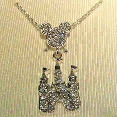Disney Necklace - Mickey Mouse Icon W/ Pave' Magic Castle