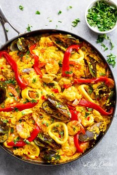This Classic Spanish Paella rivals any restaurant paella! Sometimes nothing compares to good home cooking, and recipe by a beloved mother.