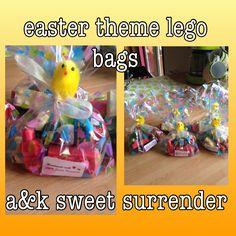 Chocolate Lego theme Easter bag