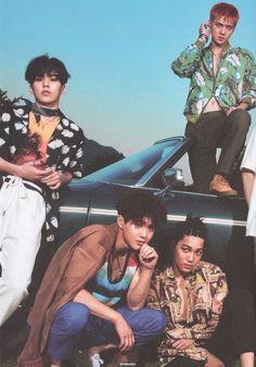 Xiumin, Suho, Kai and Sehun Exo Kokobop, Chanyeol Baekhyun, Kpop Exo, Exo Kai, Mtv, Exo Group Photo, Exo Album, Ko Ko Bop, Exo Lockscreen