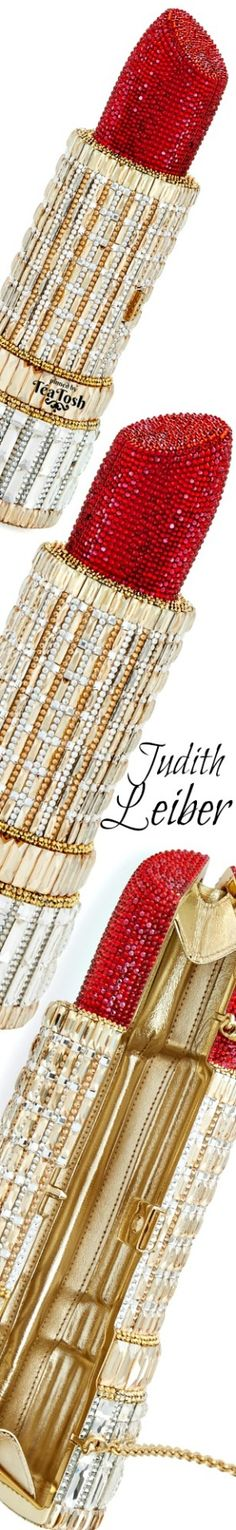 ❇Téa Tosh❇ Judith Leiber Couture Colors Of Fire, Best Lipsticks, Glossy Lips, Fabulous Nails, Judith Leiber, Jewel Box, Gold Style, Red Gold, Bellisima