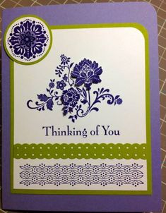 Fresh Vintage Thinking of You by kperry57 - Cards and Paper Crafts at Splitcoaststampers