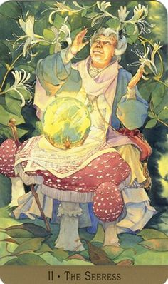 The Seeress (Hight Priestess) from the Victorian Fairy Tarot