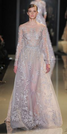 I love this effect of plants wrapping round or covering you (Paris Haute Couture: Elie Saab spring/summer 2013)