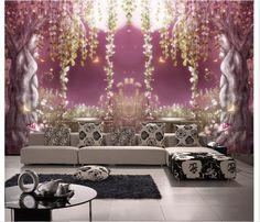 Customized 3d wallpaper 3d tv wall paper murals TV setting wall vine old tree wallpaper