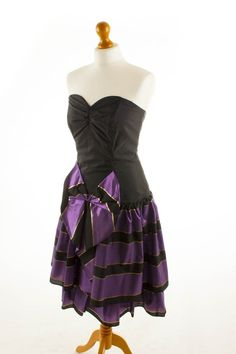 True vintage #party #dress prom #dress black purple #1980s #party 42,  View more on the LINK: http://www.zeppy.io/product/gb/2/381578644473/