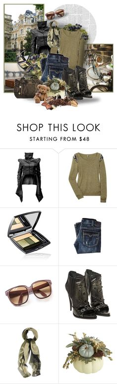 """""""Untitled #386"""" by mlka ❤ liked on Polyvore featuring Nuvula, IRO, Lancôme, 1921, Emmanuelle Khanh, Givenchy and Alexander McQueen"""