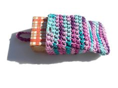 Crocheted from 100% soft & absorbent cotton yarn, this soap saver is an ecconomical #craftshout