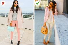 Avoid black footwear if you're wearing pastel tones Petite Outfits, Basic Outfits, Magazine Mode, I Love Fashion, Fashion Tips, Posing Guide, Photo Tips, Business Fashion, Boyfriend Jeans