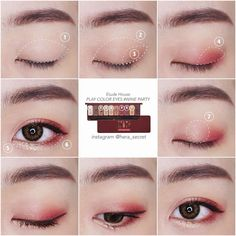 "History of eye makeup ""Eye care"", quite simply, ""eye make-up"" happens to be an area Makeup Trends, Makeup Inspo, Makeup Tips, Beauty Makeup, Asian Makeup Looks, Korean Eye Makeup, Korea Makeup, Makeup Korean Style, Tutorial Sombra"