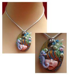 Seahorse Goddess Pendant Necklace Jewelry Handmade  http://cgi.ebay.com/ws/eBayISAPI.dll?ViewItem=150881156611