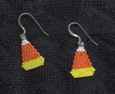 Beaded Halloween Earrings
