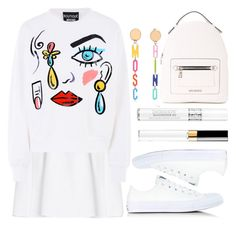 """White"" by wolfiexo ❤ liked on Polyvore featuring malo, Converse, Boutique Moschino, Love Moschino, Moschino, Chanel and Christian Dior"