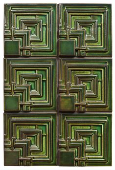 Frank Lloyd Wright Ennis House relief tile by Motawi Tileworks Organic Architecture, Pavilion Architecture, Residential Architecture, Contemporary Architecture, Ennis House, Art Deco Colors, Usonian, Craftsman Interior, Facade House