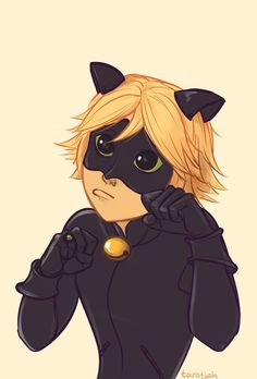 His Greatest Weapon-!  ...are his kitty eyes. How could Ladybug say no? (by taratjah) (Miraculous Ladybug, Chat Noir, cute)