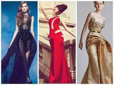 Black, Red, Gold! #fashion #gown #couture #style