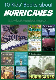 BC School Libraries Book List 10 Kids' Books about Hurricanes Preschool Science, Science Education, Physical Science, Science Classroom, Science Lessons, Kids Education, Science Experiments, Classroom Ideas, Weather Unit