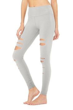 <p><span>Sculpt your way to stylish in the High-Waist Ripped Warrior Legging. Featuring flatlocked comfort seaming, a strategically placed between-legs lined panel for better fit and comfort, and a sleek high waist, they're perfect for working out and wearing out.</span></p>