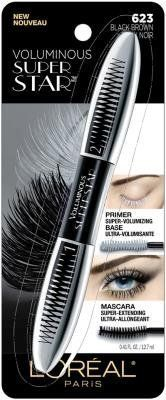 ONLY 1 IN PACK L'Oreal Voluminous Super Star Mascara, Washable, 623 Black Brown by L'Oreal Paris. ONLY 1 IN PACK L'Oreal Voluminous Super Star Mascara, Washable, 623 Black Brown.