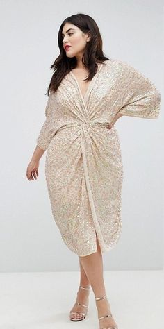 21 Plus Size Wedding Guest Dresses {with Sleeves} - Plus Size Dresses - Plus Size Fashion for Women - alexawebb.com #alexawebb