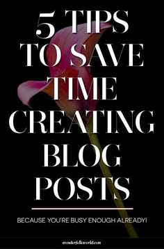 5 tips to save time